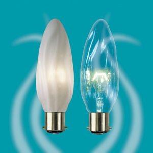 opal and clear flambeau candle bulbs