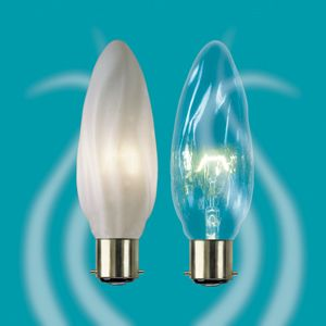 opal and clear flambeau candle bulbs