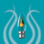 bayonet base flicker candle bulb
